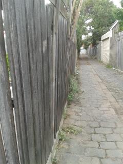 Back Lane paling fence East