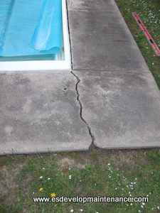 Pool concrete paving cracking