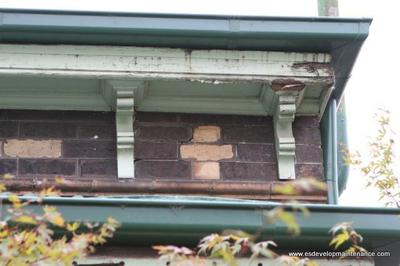rotted section of fascia